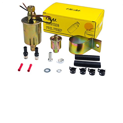 PLDDE New 1pc Universal 2.5-4.5 PSI 12V High Performance free Flow In Line External Electric Fuel Pump With Complete Installation Kit - Bmw External Fuel Pump