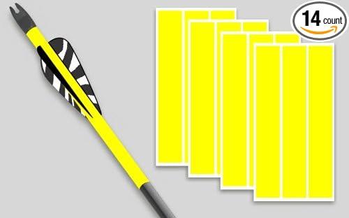 Arrow wraps for carbon arrows 1x7 bright yellow 1 dozen plus 2