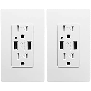 Feit Electric Wall Outlets With 2 Usb Ports Amazon Com