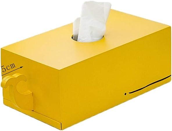 ENXING Caja de Pañuelos Portador de servilletas de Ballena Caja de pañuelos de Madera Caja de Papel de Color Caramelo Titular de servilleta Rectangular 24x13x9.5cm Amarillo: Amazon.es: Hogar