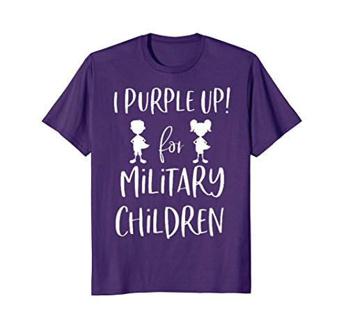 purple up shirt, for the month of the military -