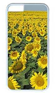 Animate Sunflower Field DIY Hard Shell White iphone 6 Case Perfect By Custom Service