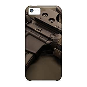 High Grade DaMMeke Flexible Tpu Case For Iphone 5c - Ar15