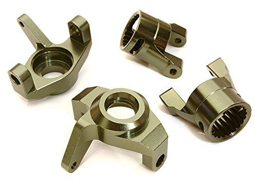 Integy RC Model Hop-ups OBM-1342GUN Billet Machined Steering Blocks & Caster Blocks for Axial 1/10 Wraith (Steering Integy Block)