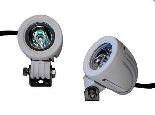 - White Mini High Output LED Marine Lights OZ-USA Spot Sail Boat Jet Yacht...
