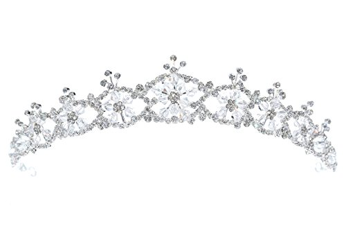 Handmade Snowflake Bridal Rhinestone Crystal Prom Wedding Tiara Crown (Snowflake Wedding Accessories)