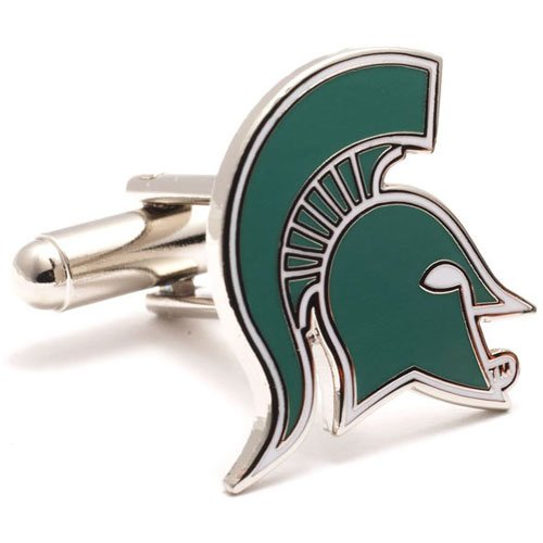 NCAA Michigan State Spartans Cufflinks - Engraved Onyx Cufflinks