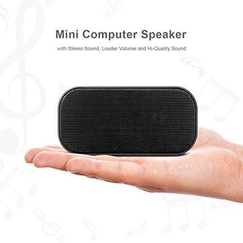 USB Computer Speakers, PC Speaker for Laptop & USB Powered Small Bar Speaker with Hi-Quality Sound, Desktop Speakers Plug and Play