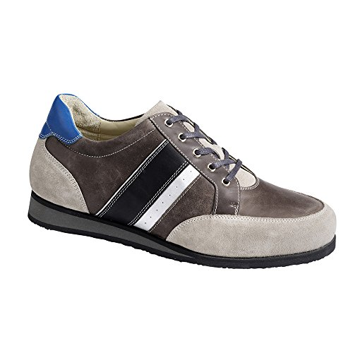 Piedro  Piedro Mens Sports Shoes 3560,  Herren Durchgängies Plateau Sandalen mit Keilabsatz , grau - grau - Größe: 45,5 EU