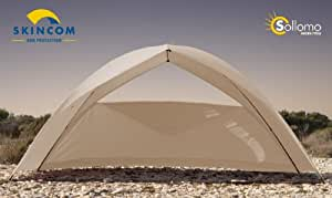 Skincom - Tienda solar (poliéster, 340 x 146 cm), color beige