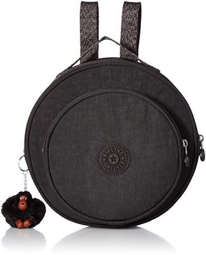 (Kipling Rani Backpack with Printed Straps,  Black, One Size)