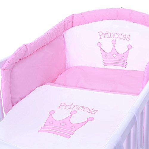 Prinzessin Babyzimmer prinzessin baby kinderzimmer komplett möbelset mit bett 120x60
