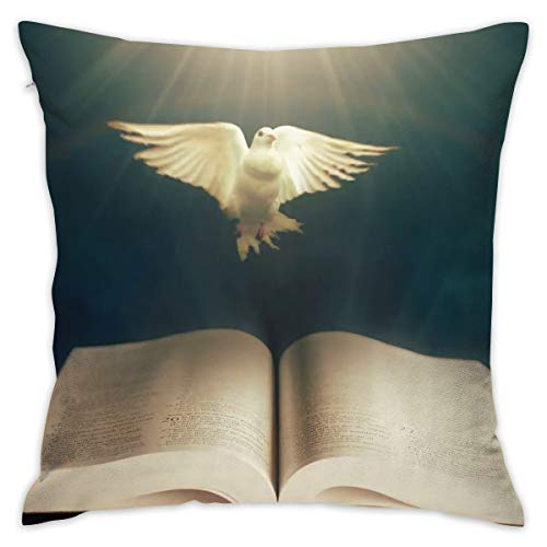 (Markui Throw Pillow Cover Holy Bible Dove Bed Sofa Pillow Case Sleeping Pillow Soft Cushion 18