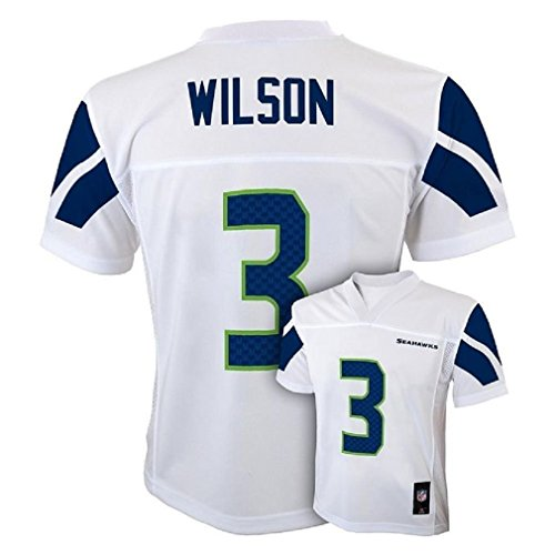 Russell Wilson Seattle Seahawks #3 NFL Youth Mid-Tier Alternate Jersey White (Youth Medium 10/12) (Seahawks Jerseys Wagner compare prices)