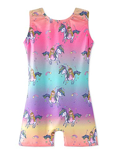Gymnastics Leotards for Girls Rainbow Size 9-10 Years Old Multiple Colors -