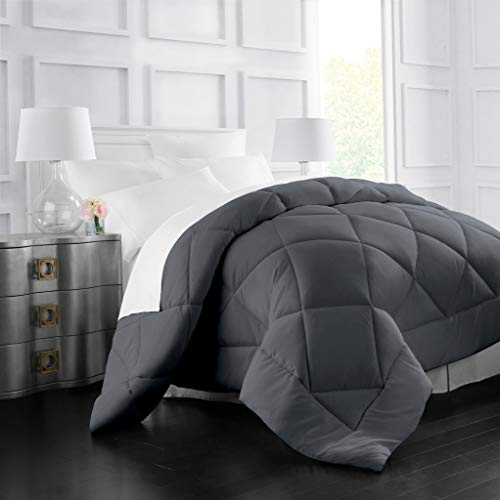 Egyptian Luxury Goose Down Alternative Comforter - All Season - 2100 Series Hotel Collection - Luxury Hypoallergenic Comforter - King/Cal King - Gray
