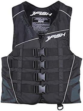 【JCI予備検査承認】J-FISH(ジェーフィッシュ) 2020年モデルEVOナイロンベスト・ブラック