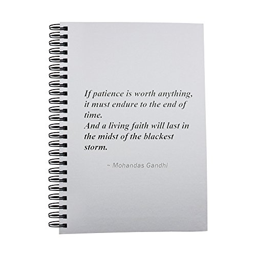 If patience is worth anything, it must endure to the end of time. And a living faith will last in the midst of the blackest storm. notebook by PickYourImage
