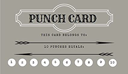 Amazon loyalty punch cards incentive loyalty reward cards loyalty punch cards incentive loyalty reward cards business card size 35 x 2 pack colourmoves