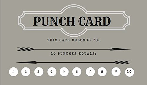 Loyalty Punch Cards - Incentive Loyalty Reward Cards Business Card Size 3.5 x 2 - Pack of 30 ()
