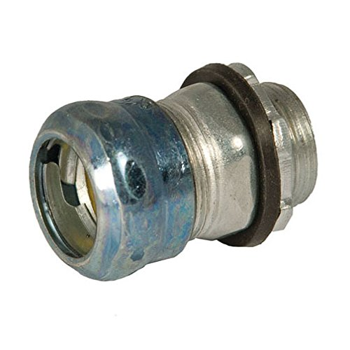 Hubbell-Raco 2904RT Steel EMT Compression Connector, Rain Tight, 1
