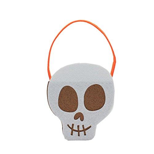 Halloween Pumpkin Bag Kids Candy Handbag Bucket Children Funny Candy Bag for Halloween Party Costumes (Popcorn Box Halloween Costume)