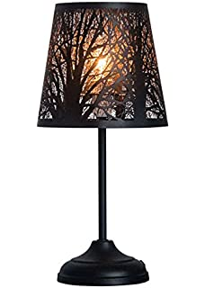 Glass dome bedside table lamp bell jar display dome bamboo base kanstar 15 hollowed out metal table lamp desk lamp bed lights with lamp shade keyboard keysfo Gallery