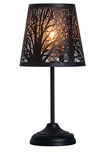 Tree Silhouette Table Lamp Unique Forest Light Modern