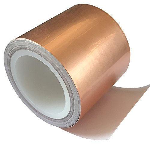 Viewm Copper Foil Tape (2inch x 18ft) Conductive Adhesive Multi-purpose for Stained Glass, Crafts, Guitar EMI Shielding, Slug Repellent, Electrical Repairs, Grounding
