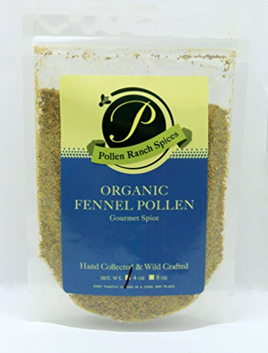Pollen Ranch Wild Crafted, Organic Fennel Pollen 4 Oz Resealable Pouch by Pollen Ranch