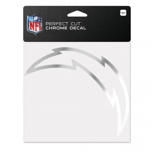 (WinCraft NFL San Diego Chargers Chrome Perfect Cut Decal, 6 x 6, Black)