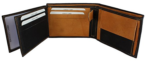 Noir in Various Genuine Genuine Wallet Leather Ocre Colours Men's Leather Men's HqPWwTzn