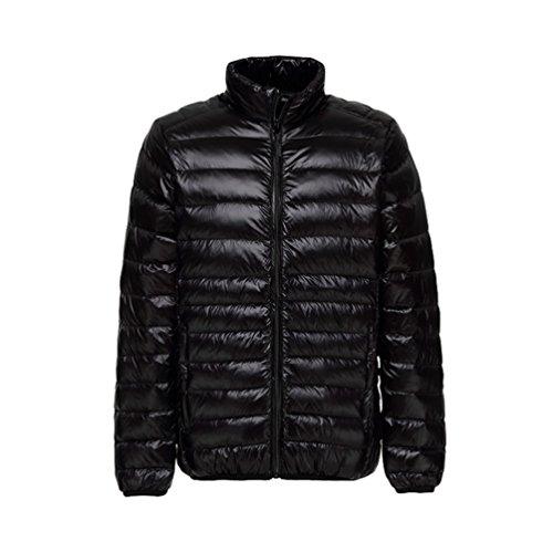Inverno Nero Outwear Più Stand Piumino Yiiquan Del Calda Peso Di Ultra Degli Uomini Dimensione Leggero Bavero Cappotto dagraw