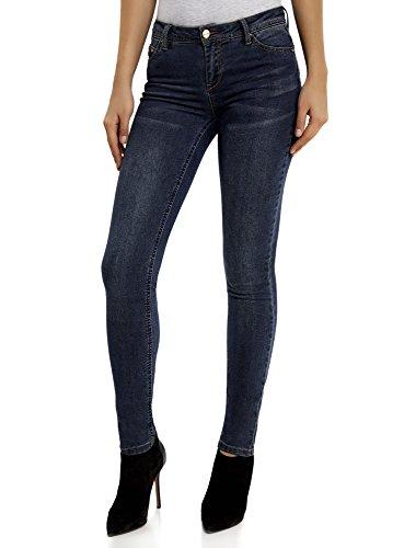 Azul Mujer Ultra oodji Skinny Pantalones 7900w UF1xw