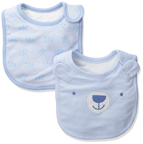 Baby Bibs (Pack Of 2), Baby Blue, No Size ()
