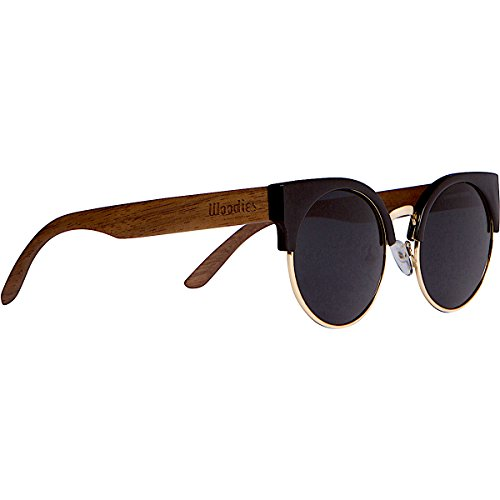 WOODIES Walnut Wood Sunglasses with Cat Eye - Woodies Frames