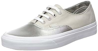 Vans UA Authentic Decon, Zapatillas para Mujer, Plateado (Metallic Canvas Silver), 34.5 EU