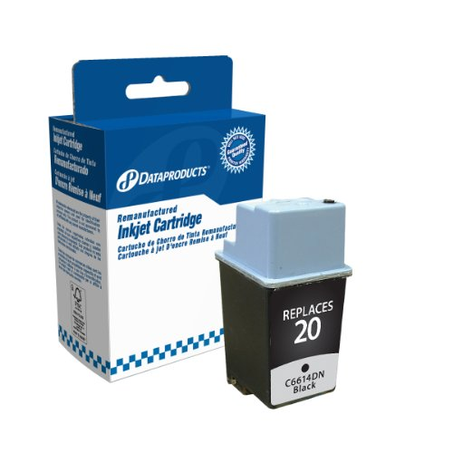 Remanufactured Ink Cartridge Replacement for HP #20 (C6614DN) (Black) ()