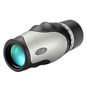 NEXGADGET Telescopio Monocular 6x30 Portátil Impermeable con BAK-4 Prismas del Techo FMC Recubrimiento Multicapa Resistente a la Niebla para Observación Flora, Fauna Silvestre, Evento Deportivos, etc.