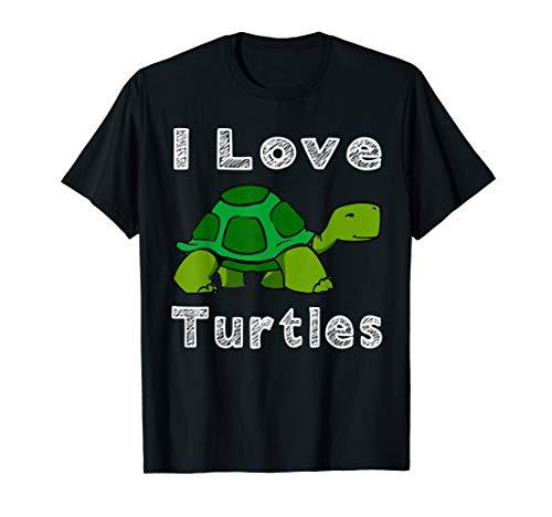 I Love Turtles Tortoise Reptile Zoo Gift T-Shirt