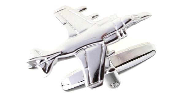 MRCUFF Airplane Plane Cessna Pilot Pair of Cufflinks in a Presentation Gift Box /& Polishing Cloth