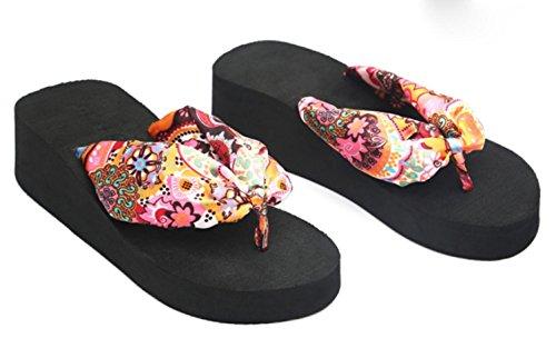 KUKI Damen Hausschuhe Muffin mit rutschfesten Clip Zehenschuhe tragen Sandalen #37