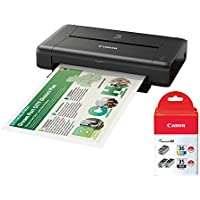 Canon PIXMA iP110 Wireless Compact Mobile Printer with Inks Value Pack Bundle