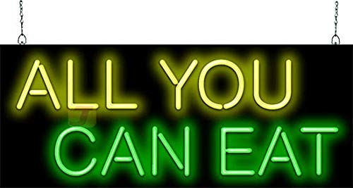All You Can Eat Neon Sign - Picture Lights - Amazon com