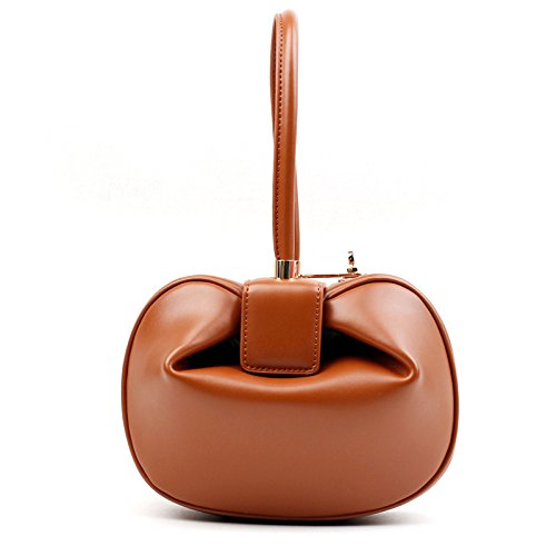 Split NEW Totes Orange Hobos Fashion Vintage Ball Clutch Designer Handbags Bags Lady Hasp Luxury Bags Women Misonz Handle Round Top Leather 4agxf