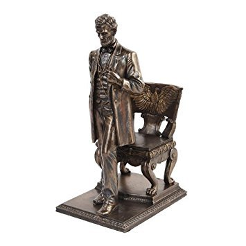 Abraham Lincoln Figurine Standing near Chair with Eagle