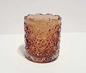 Amazon.com: Glass Votive Candle Holder (Brown): Home & Kitchen
