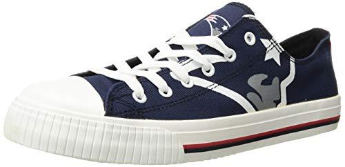 NFL New England Patriots Men's Low Top Big Logo Canvas Footwear, Team Color, XL / Mens Size 11 ()