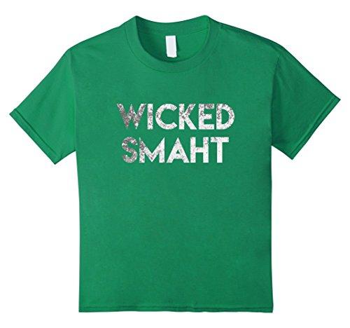 Boston Kids T-shirt - Kids Wicked Smaht Tshirt 4 Kelly Green
