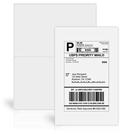 Amazon Stamps 5 12 X 8 12 Shipping Labels 100 Labels